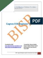 Cognos 8 BI Beginner's Guide