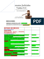 Lista Inmuebles de Remate Estado de México y Provincia