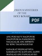Glorious Mystery for Culmination 2014