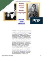 Frida Kahlo, Biografía, Resumida, Corta, Breve, Diego Rivera