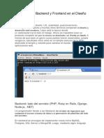 08_Qué Significa Backend y Frontend en El Diseño Web