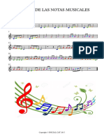 Cancion de Las Notas Musicales - Partitura Completa