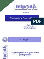 Photography - Part 1 (Basics n Camera)