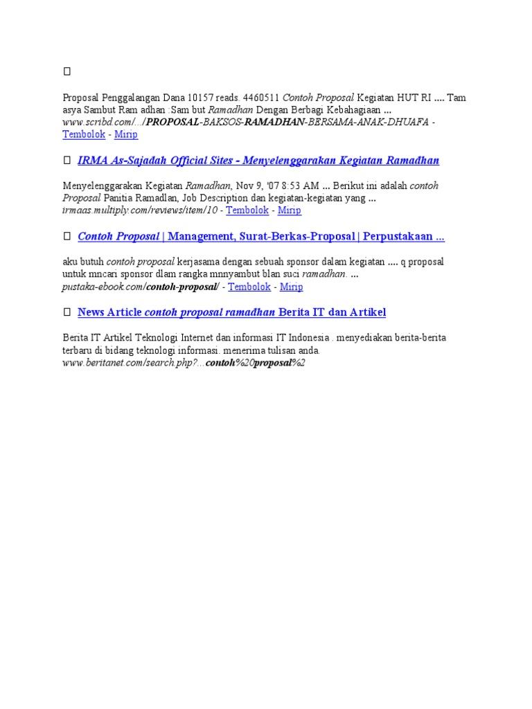 Proposal Penggalangan Dana 10157 Reads