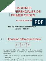 Clase Modelo Ecuaciones Diferenciales Exactas