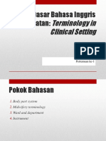 Minggu 1 (Terminology in Clinical Setting).pptx
