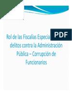 Rol de Las Fiscalias Especializadas Contra La Administracion
