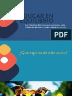 Educar en Equilibrio Presentación Curso ConstruyeT UTEZ