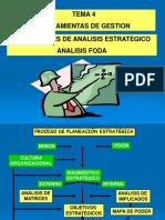 Tema 4b - Herramientas de Gestion - Analis de La Matriz Foda