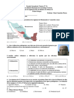Exam. Primer Bloque historia de México