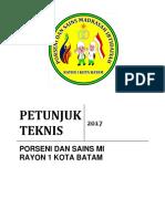 Juknis Porseni Dan Sains 2017 Edit
