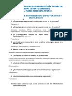 Banco de Preguntas de Farmacología II Parcial. (Corregidas)