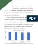 website task- status of education report