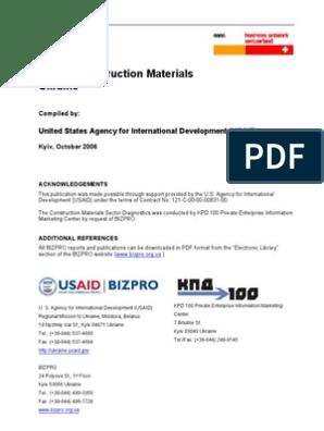 Bb Ukraine Baumaterial2006 En Building Materials Survey