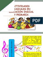 Acvidades Musicales en Nivel Inicial y Primaria