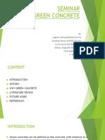 Seminar Ppt on Green Concrete