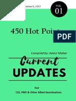 Current Updates 2017 (450 Hot Points) Volume-I