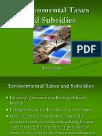 Environmental Taxes and Subsidies (1)