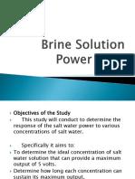 Brine Solution Power Bank