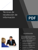 Técnicas de Recolección de Información RRHH