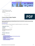 Concrete Beam Design Template
