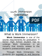 Work Immersion Orientation