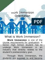 Work Immersion Orientation