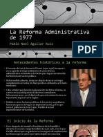 La Reforma Administrativa