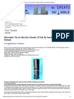 Determine the in-Situ Dry Density of Soil by Sand Replacement Method