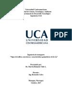 Tráfico, Carreteras y Características Geométricas de La Via