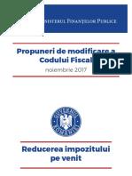 Modificari Cod Fiscal - Romania 11.2017