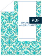 Monografia de Espondilitis Anquilosante EA