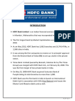 A Study on HDFC