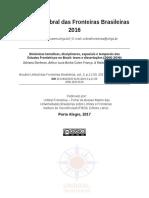 Dinâmicas temáticas, disciplinares, espaciais e temporais dos Estudos Fronteiriços no Brasil