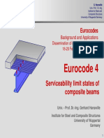 Serviceability Limit States of Composite BeamsEurocode