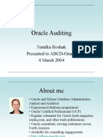 Oracle Auditing Nroshak