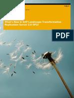 What's New SP13 - SAP Landscape Transformation Replication Server