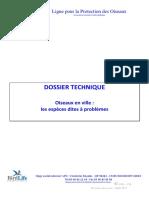 Dossier Technique Oiseaux Des Villes - Lpo- Oct-2010