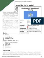 Organización Mundial de la Salud - Wikipedia, la enciclopedia libre