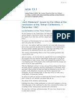 Tehran Statement 1943