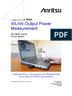 Antritsu, Application Note WLAN Output Power Measurement ML248XA Series Power Meters