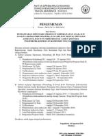 Pengumuman Pendaftaran Sipenmaru Diknakes D4 Mitra Sp. dan D4 Kes Lain (Non Pusren)