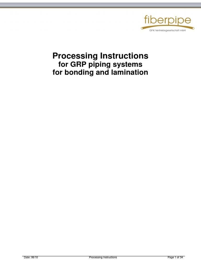 GRP Lamination Processing_Instructions pdf | Epoxy | Adhesive