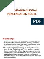 Penyimpangan Dan Pengendalian Sosial