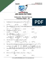 Bionomial Theorem Paper 03