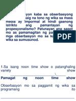 Activity Sa Sitwasyong Pangwika