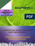 Statifikasi Sosial Dan Gaya Hidup Masyarakat