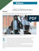 Nacen Las Escuelas Nina, Con Más Horas de Clase e Idiomas - Edición Impresa - El Diario
