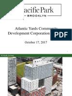 Atlantic Yards CDC Developer Presentation 10/17/2017