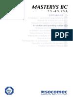Gb-masterys Bc 15 40-Operating Manual
